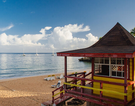 lifeguard hut Store Bay Tobago