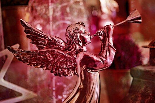 Close-up Of Angel Figurine
