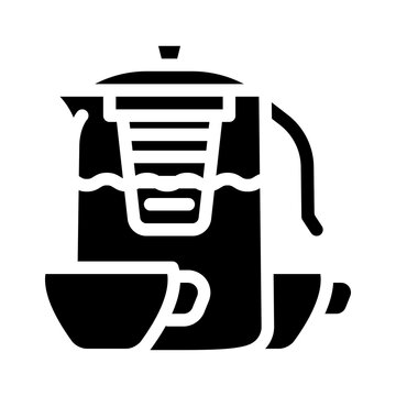 tea drink for relax glyph icon vector illustration