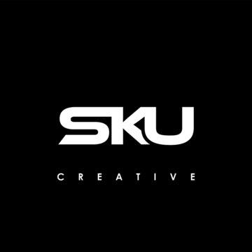 SKU Letter Initial Logo Design Template Vector Illustration