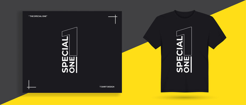 Special one typography t shirt design