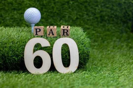 Golf 60th birthday  is on green grass