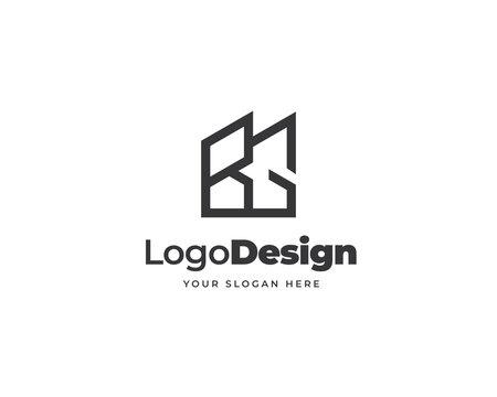 BG initial letter logo vector. Modern property logo design