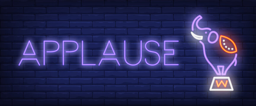 Applause neon style banner