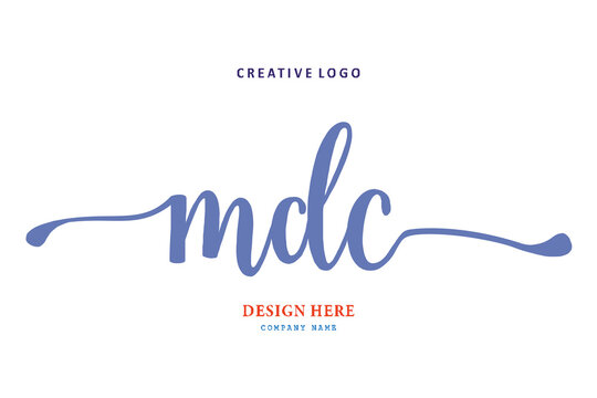 MDC lettering logo is simple, easy to understand and authoritative
