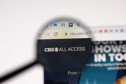 Los Angeles, USA - 1 February 2021: CBS All Access website page. Cbs.com logo on display screen, Illustrative Editorial.