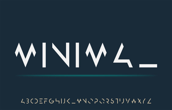 incomplete minimal cut alphabet a to z font family