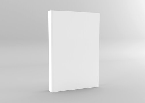 Hardcover book mockup. Book, brochure, magazine  cover template. 3d rendering book mockup isolated gray background.