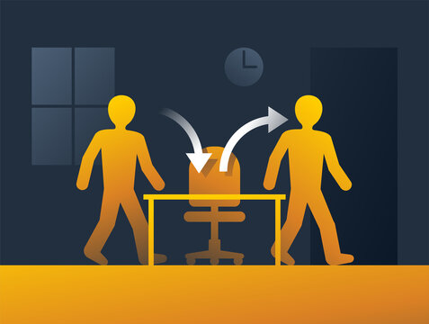 Employee turnover - worker replacing by new one