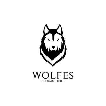 wolf vector logo design inspiration