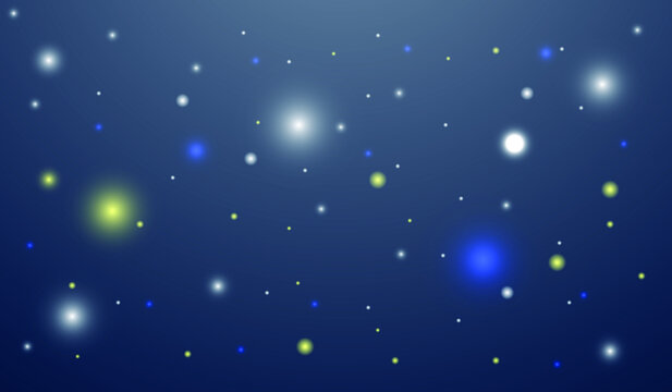fantasy sky with light blue, white and yellow particles. eps10