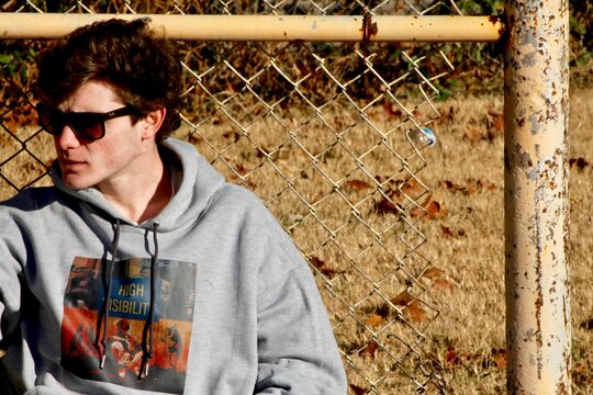 Young Adult in Park Street Wear Photo Shoot