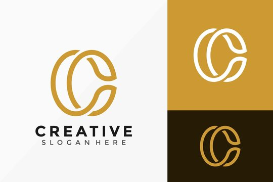 Letter C Logo Icon Vector Design. Creative simple elegant logo design Vector illustration template