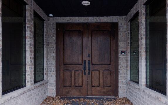 Beautiful dark wood doors