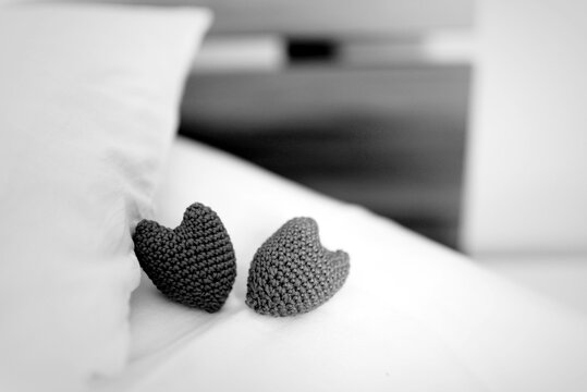 sweethearts on marriage bed