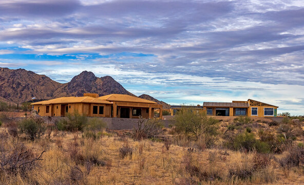 Custom Homes Under Construction in North Scottsdale, Arizona.