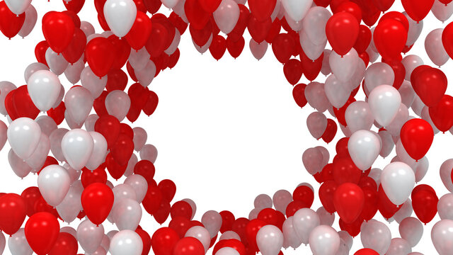 Balloons Circle isolated on white