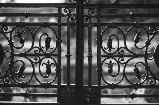 Close-up Of Closed Metal Gate