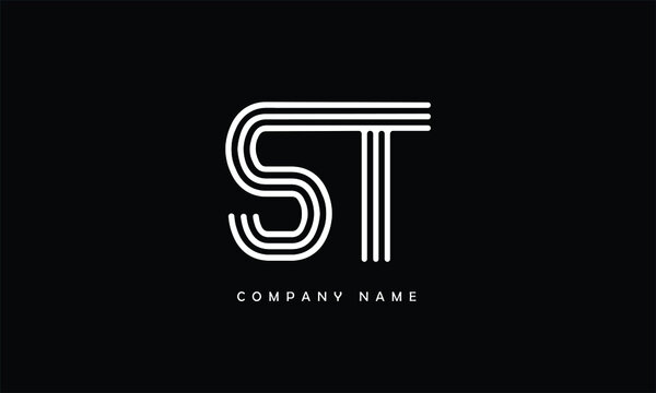 ST, TS, S, T Abstract Letters Logo Monogram
