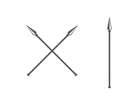 the spear icon. vector flat icon