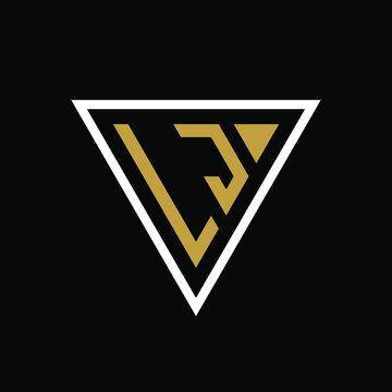 Initial letter LJ triangle logo design