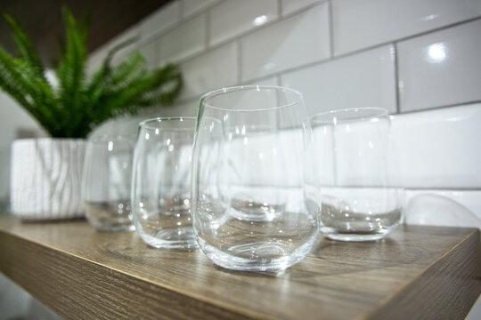 glassware home decor