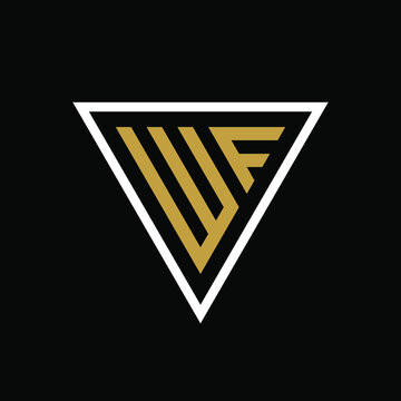 Initial letter WF triangle logo design