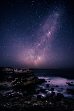 Long exposure Milky Way photo land scape