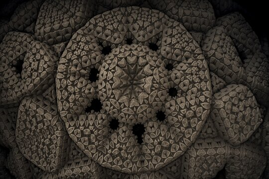 A bizarre fractal structure that looks alike as an ancient alien artifact.