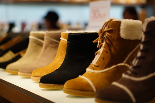 Close-up Of Shoes For Sale In Store