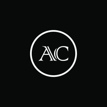 AC LOGO, AC ICON, AC VECTOR, AC LETTER, AC MINIMALIST, AC FLAT, AC MONOGRAM Unique abstract geometric logo design
