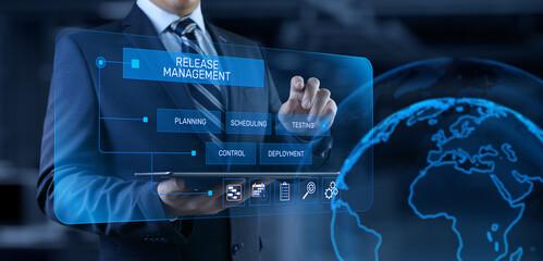 Fototapeta Release management software development and testing concept obraz