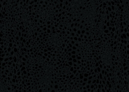 Dark Cheetah spots pattern design. Vector illustration background. Wildlife fur skin design illustration.