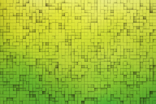 green color abstract pixel square texture background 3d render