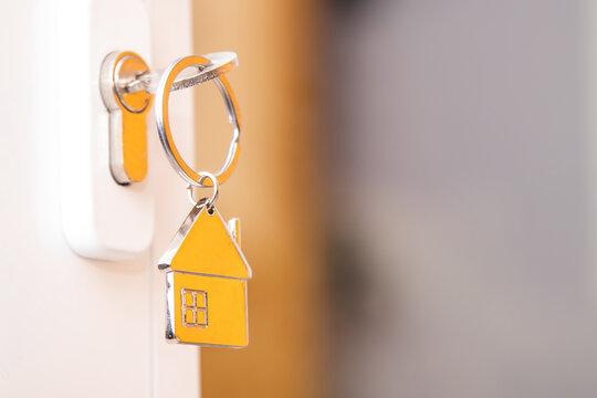 keys in the lock of the house door