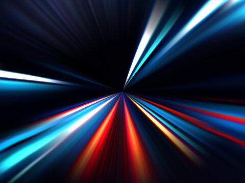High speed. Radial motion blur background. Vector illustration.