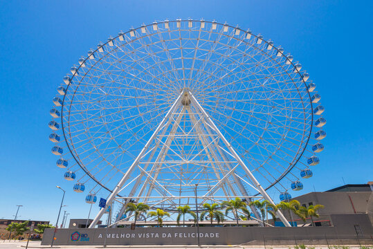 Rio de Janeiro, Brazil - January 18, 2021: Rio Star ferris wheel in revitalized part of the city is 88 meters (289 feet) high.