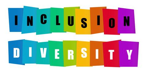 Fototapeta Inclusion and diversity infographic vector set