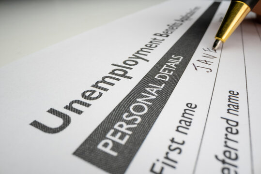 Completing unemployment benefits application form
