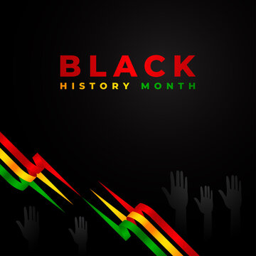 Black History Month Vector Design Template Background