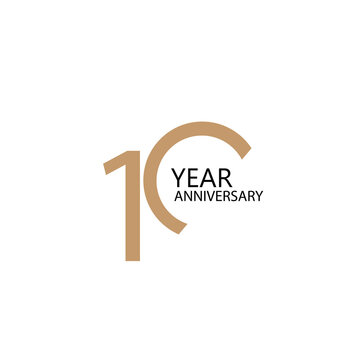 10 year anniversary celebration vector template design illustration