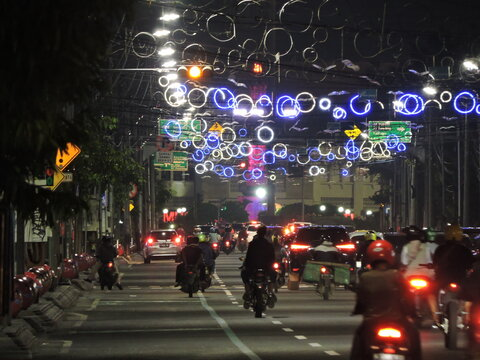 the beauty of the night in the city of semarang