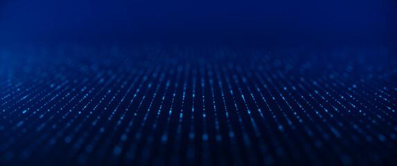 Obraz Network connection concept. Internet Communication Big data, Technology Background - 3d rendering. - fototapety do salonu