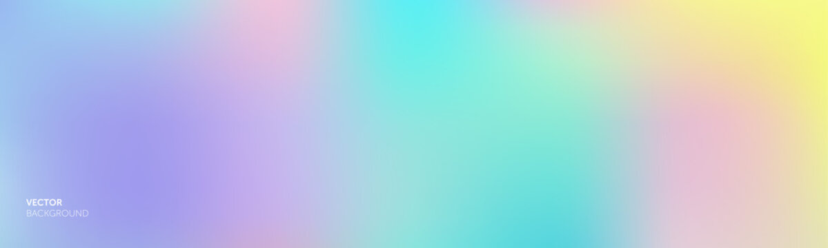 Background gradient color gradation abstract mesh blend, vector purple soft bright and holographic iridescent pattern