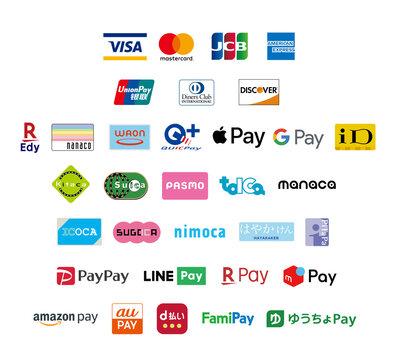 キャッシュレス決済サービス・交通系電子マネー・流通系電子マネー・後払い型電子マネー・QRコード決済・銀行PAY決済