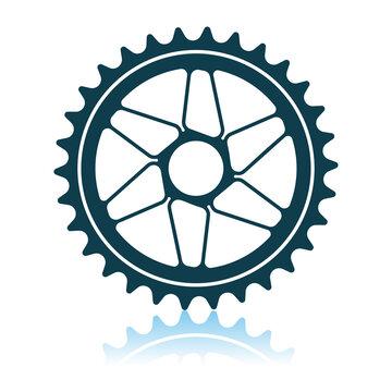 Bike Gear Star Icon