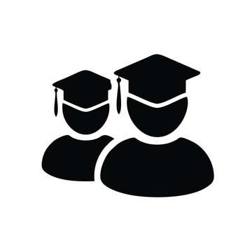 Male graduate student icon isolated on white background. Male graduate student icon in trendy and simple design style for website, mobile, logo, apps, UI.