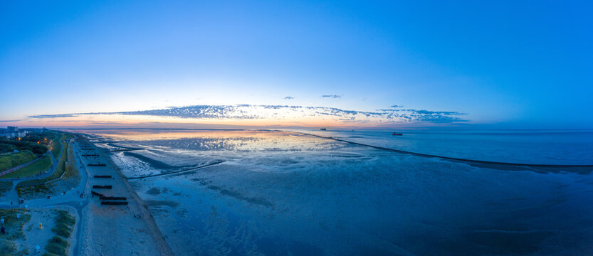 Landscape of the National Park Wadden Sea by Cuxhaven