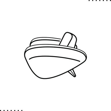 streamline style armchair vector icon in outline