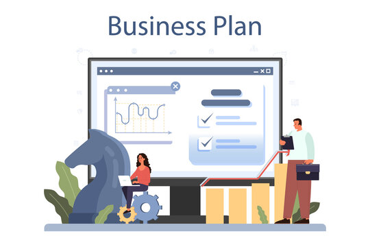 Development strategy online service or platform. Business planning.